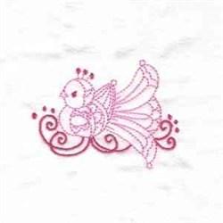 Savannas Bird Redwork embroidery design