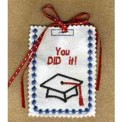 Graduation Gift Card Holder embroidery design