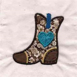 Fancy Boot Applique embroidery design