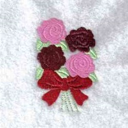 Valentine Bouquet embroidery design