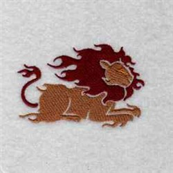 Flame Lion embroidery design