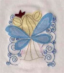Fairy and Swirls embroidery design