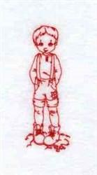 Daniel Boy Redwork embroidery design