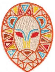African Decorative Lion embroidery design
