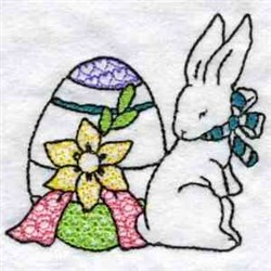 Easter Egg and Bunny embroidery design