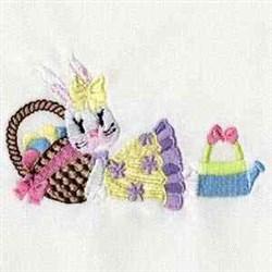 Bunny Basket embroidery design