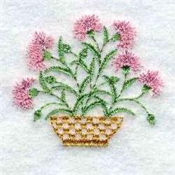 Floral Basket embroidery design
