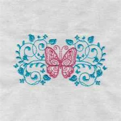 Embellished Butterfly Border embroidery design