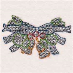 Mylar Christmas Bells embroidery design
