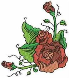 Fantastic Roses embroidery design