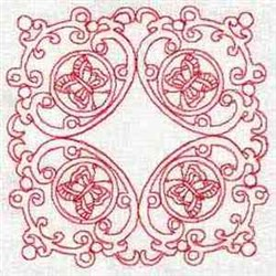 Redwork Butterfly Block embroidery design