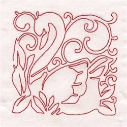 Seven Swans Swimming embroidery design
