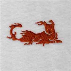 Flaming Cat embroidery design