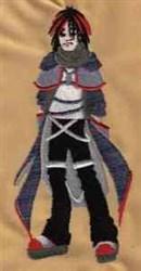 Gothic Boy embroidery design