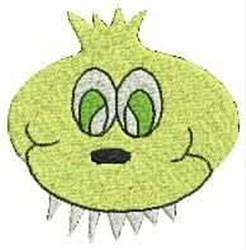 Alien Monster embroidery design