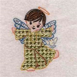 Mylar Applique Angel embroidery design