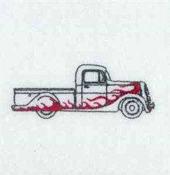 Redwork Pickup Truck embroidery design