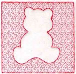 Square Bear embroidery design