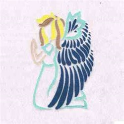 Angel  Prays embroidery design