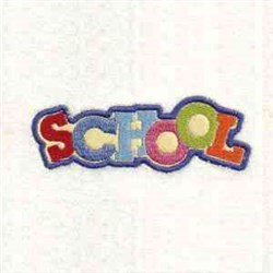 Applique School Text embroidery design