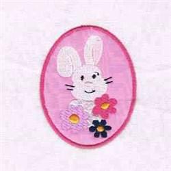 Rabbit Easter Egg embroidery design