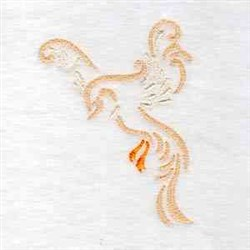 Fancy Bird embroidery design