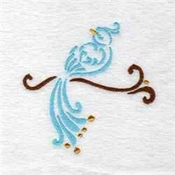 Elegant Bird embroidery design