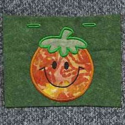 Applique Jack-o-lantern embroidery design