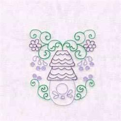 Outline Birdhouse embroidery design