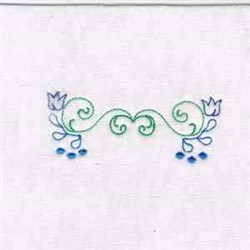 Flower Outline embroidery design