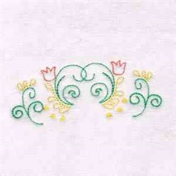 Tulip Flowers embroidery design