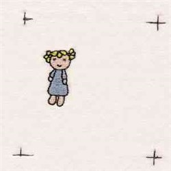 Girl Doll embroidery design