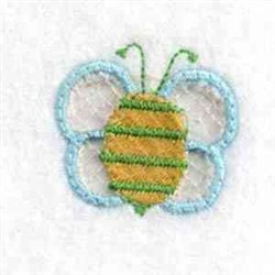 Cut Out Bee Charm embroidery design