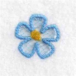 Cut Out Flower Charm embroidery design
