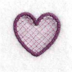 Cut Out Charm Heart embroidery design