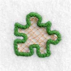 Cut Out Puzzle Charm embroidery design