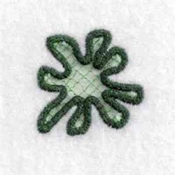 Cut Out Charm Splat embroidery design