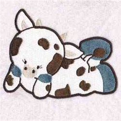 Cute Cow embroidery design
