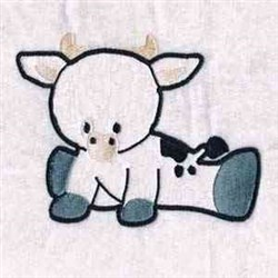 Baby Cow embroidery design