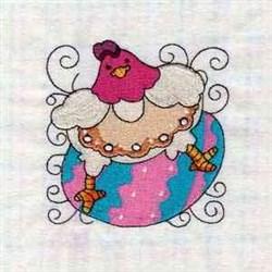 Easter Swirl Blocks embroidery design