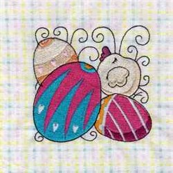 Cute Easter Blocks embroidery design