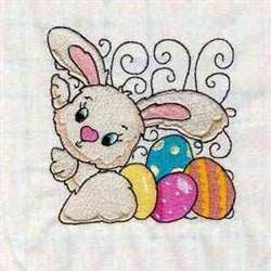 Cute Bunny Block embroidery design