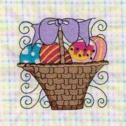 Easter Basket Block embroidery design