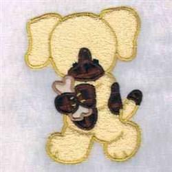 Puppy & Bone embroidery design