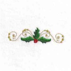 Holly Swirl embroidery design
