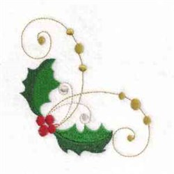 Curly  Holly embroidery design
