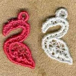 FSL Flamingo Charms embroidery design