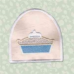 Pie Towel Topper embroidery design