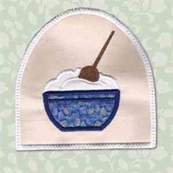 Mix Bowl Towel Topper embroidery design