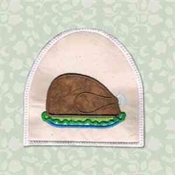 Turkey Towel Topper embroidery design